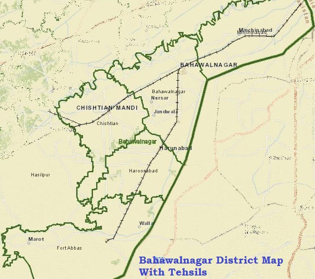 Bahawalnagar District Map
