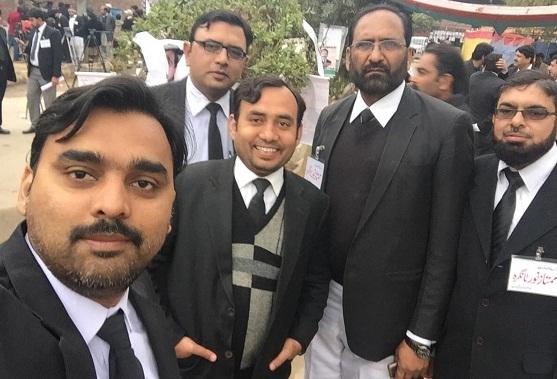 Falak Sher Wattoo and Malik Adnan Ahmad during Multan Bar Election 2017