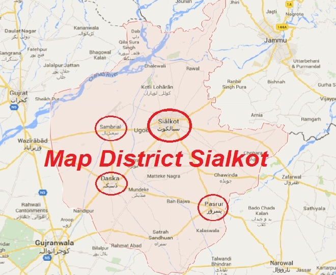 Sialkot District Map