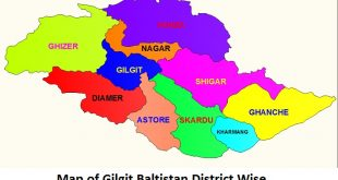 Gilgit Baltistan Map District Wise