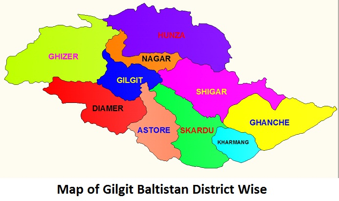 Gilgit Baltistan List Of Tehsils Districts And Divisions گلگت بلتستان