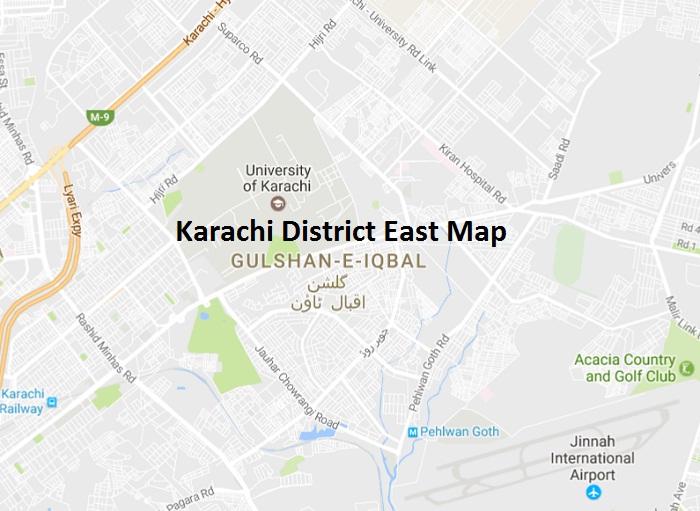 Karachi District East Map