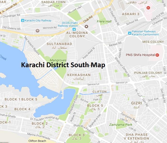 Karachi South District UC List, MNA MPA Seats کراچی ضلع