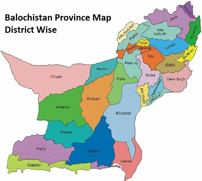 map balochistan province district wise
