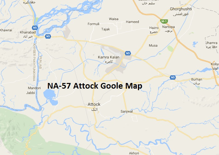 NA-57 Attock Google Area Map