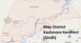 Kashmore Kandhkot District Map