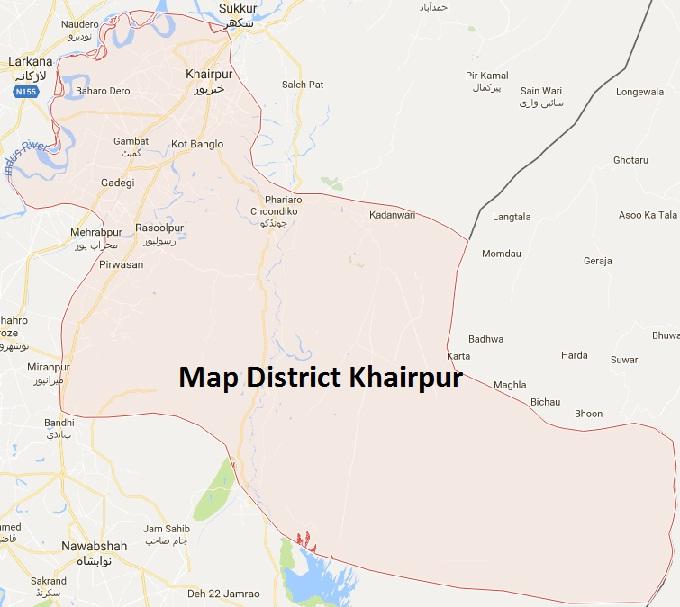 Khair Pur District Map