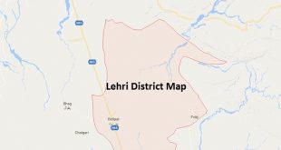 Lehri District Google Map