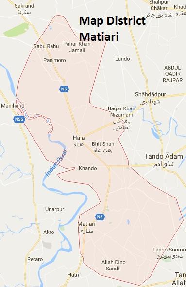 Matiari District Google Map