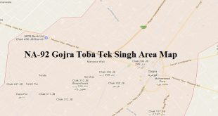 NA-92 Gojra Toba Tek Singh Area Map