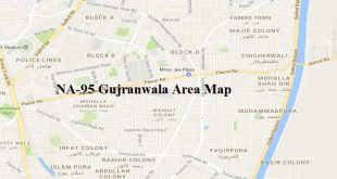 NA-95 Gujranwala Area Map