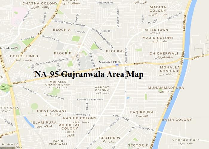 NA-95 Gujranwala Area Map