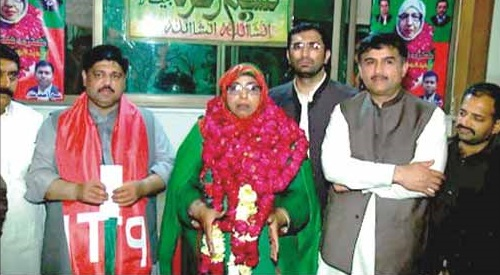 PTI Naseem Zohra Member Lahore Cant Board Elected, with Shuaib Siddiqui MPA PP-147