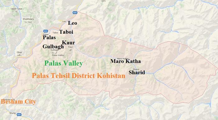 Palas Tehsil District Kohistan Google Map - PK 62 Area