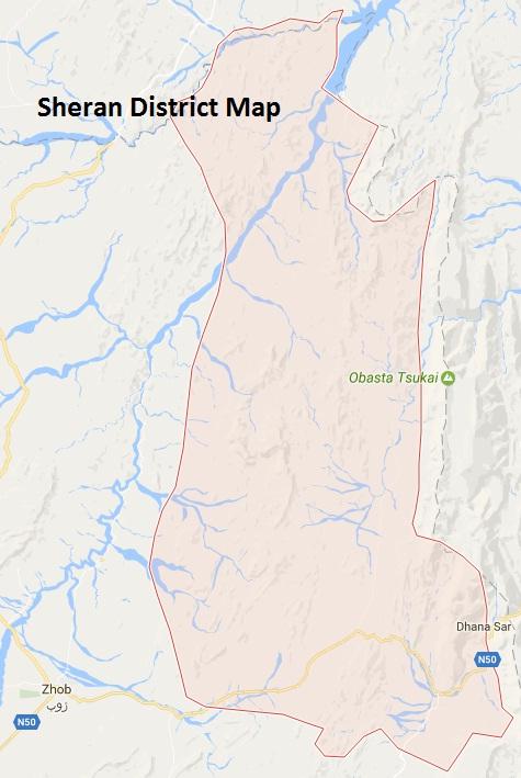 Sherani District Google Map