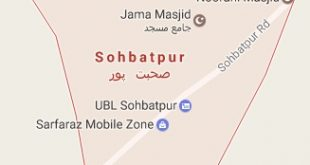 Sohbatpur City Google Map