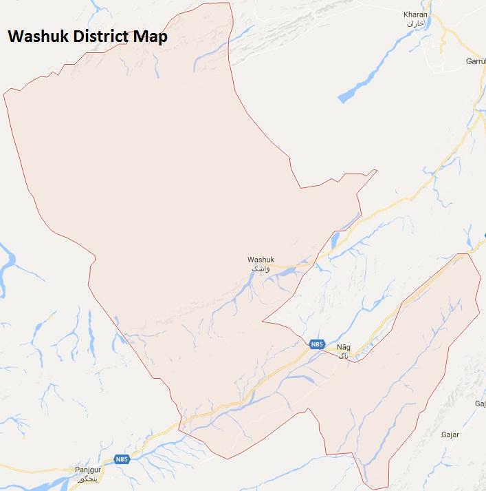 Washuk District Google Map