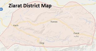 Ziarat District Google Map