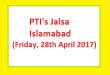 PTI Islamabad Jalsa 28-4-2017 - Imran Khan Address