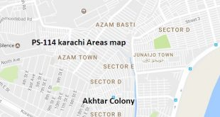 PS-114 Karachi Areas map