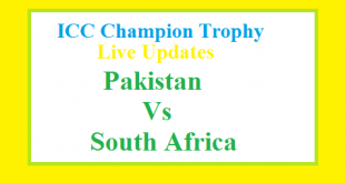Pakistan Vs South Africa Match Live Update Today