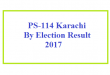 PS-114 Result By election Karachi Today Live Update