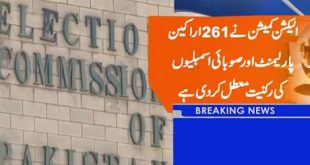 ECP Suspended Membership of 261 Senetors, MNAs and MPAs - Complete List