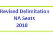 Revised Delimitation of NA Seats 2018