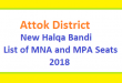 Attock District New Halqa Bandi - List of MNA and MPA Seats 2018