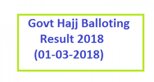 Hajj Balloting Result Today Online