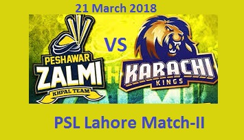 KK Vs PZ PSL Live Lahore Match Today 21-3-2018 PTV, GEO