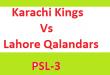 PSL Live Match KK Vs LQ - PTV Sports