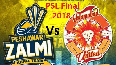 PZ Vs IU - PSL Final Live Karachi Today 25 Mar 2018