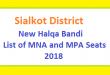 Sialkot District New Halqa Bandi - List of MNA and MPA Seats 2018
