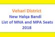 Vehari District New Halqa Bandi - List of MNA and MPA Seats 2018