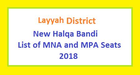 Layyah District New Halqa Bandi - List of MNA and MPA Seats 2018