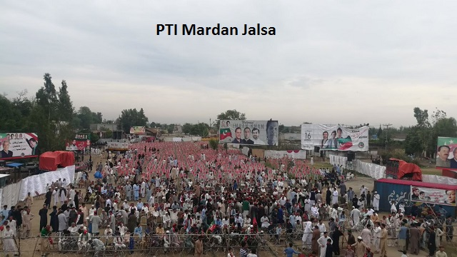 PTI Jalsa - Mardan is ready to welcome Chairman Imran Khan, preparations underway and zealous crowds start arriving