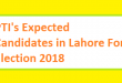 PTI's Expected Candidates in Lahore for Election 2018 - MNA and MPA Seats