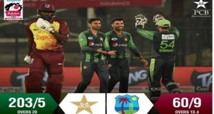 Pak Vs WI 1st T20 Match Karachi Live Score Board and Result April 2018