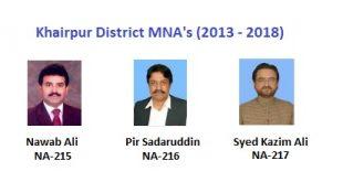 Khairpur MNA Pics - Nawab Ali, Pir Sadaruddin, Syed Kazim Ali