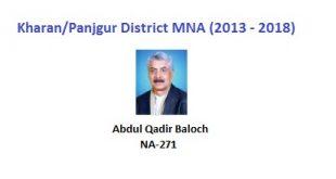 Kharan-Panjgur MNA Pics - Abdul Qadir Baloch