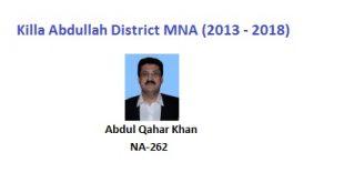 Killa Abdullah MNA Pics - Abdul Qahar Khan