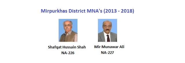 Mirpurkhas MNA Pics - Shafqat Hussain Shah, Mir Munawar Ali