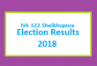 NA 122 Sheikhupura Election Result 2018 - PMLN PTI PPP Candidate Votes Live Update