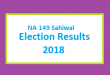NA 149 Sahiwal Election Result 2018 - PMLN PTI PPP Candidate Votes Live Update