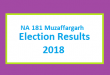 NA 181 Muzaffargarh Election Result 2018 - PMLN PTI PPP Candidate Votes Live Update