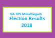 NA 185 Muzaffargarh Election Result 2018 - PMLN PTI PPP Candidate Votes Live Update