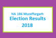NA 186 Muzaffargarh Election Result 2018 - PMLN PTI PPP Candidate Votes Live Update