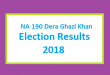 NA 190 Dera Ghazi Khan Election Result 2018 - PMLN PTI PPP Candidate Votes Live Update