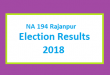 NA 194 Rajanpur Election Result 2018 - PMLN PTI PPP Candidate Votes Live Update